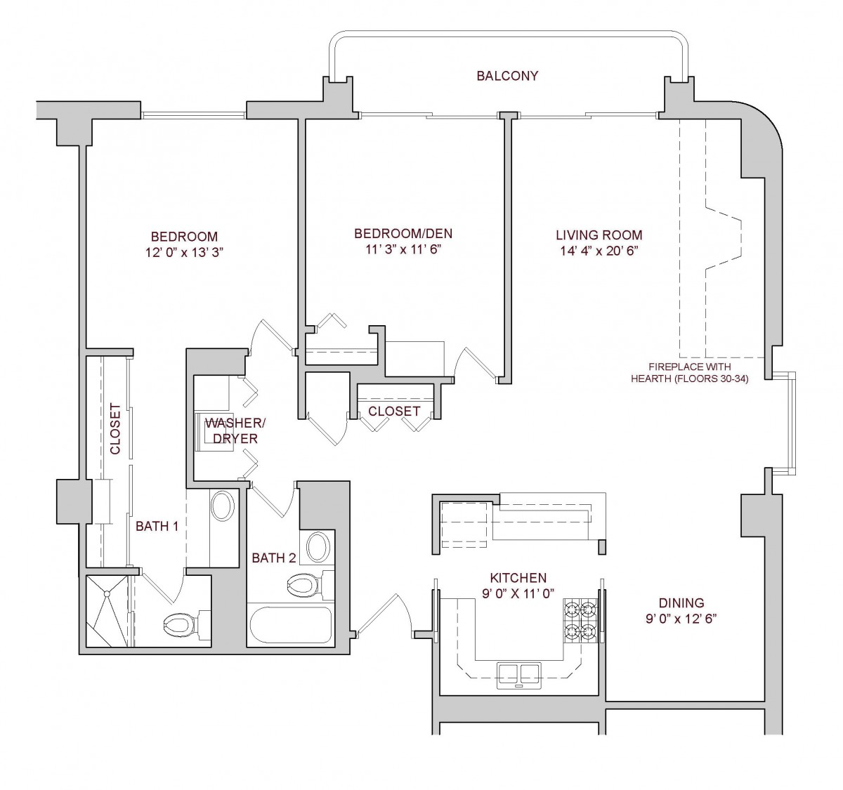 Two Bedroom Plan A