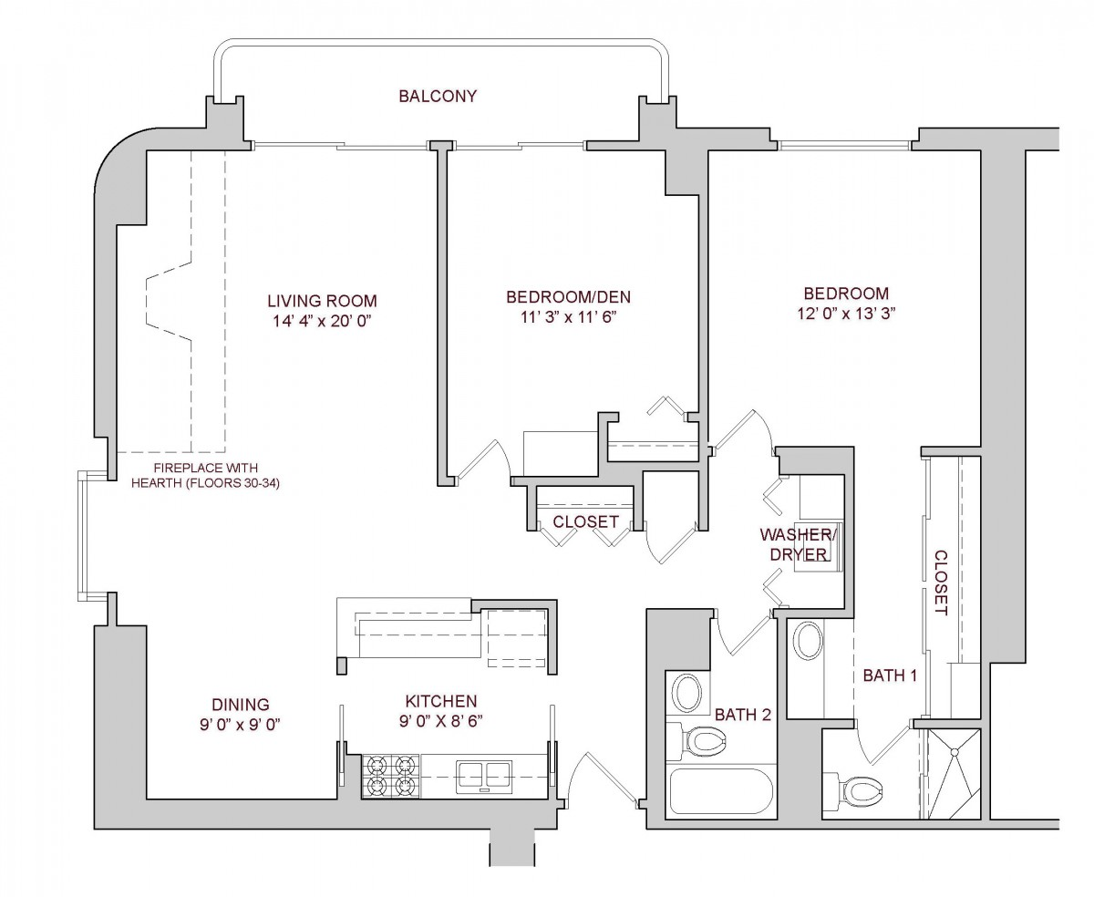 Two Bedroom Plan C